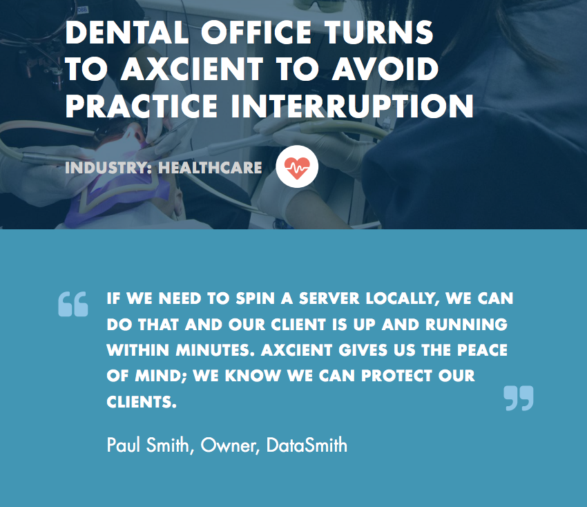 12bd4651809 Dental Office Avoids Interruption With Back-Up Solution - Datasmith ...