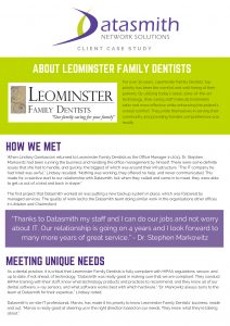 Case Study_Leominster Family Dentists